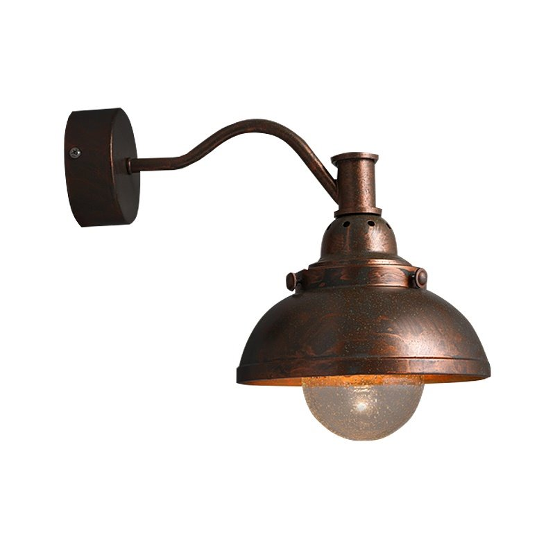 Simple Style Hardware Coppery 1-Head Decorative Wall Light