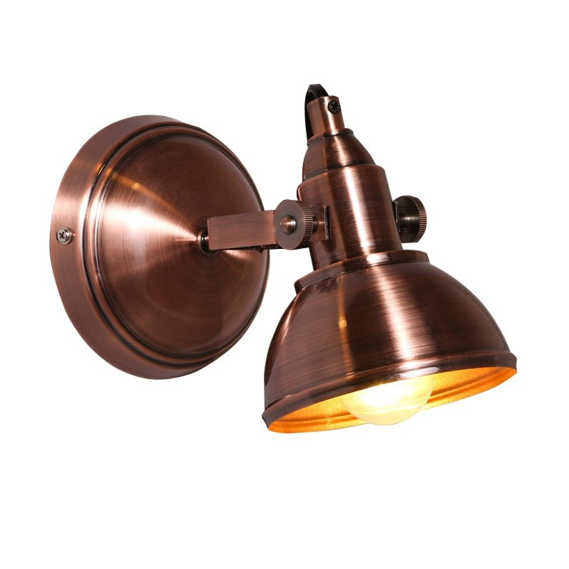 Classic Style Coppery Hardware 1-Head Decorative Wall Light
