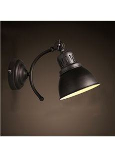 Black Light Cover Classic European Style Hardware 1 Bulb Durable Wall Light