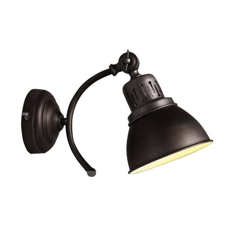 Black Light Cover Classic European Style Hardware 1 Bulb Durable Wall Light