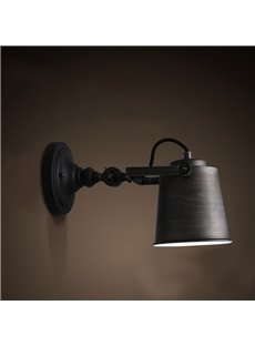 Black Light Cover Classic Style Hardware 1 Bulb Wall Light
