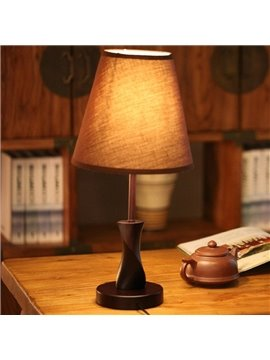 4.5×16.9in Cloth Shade and Hardware Base 1 Bulb Table Lamp