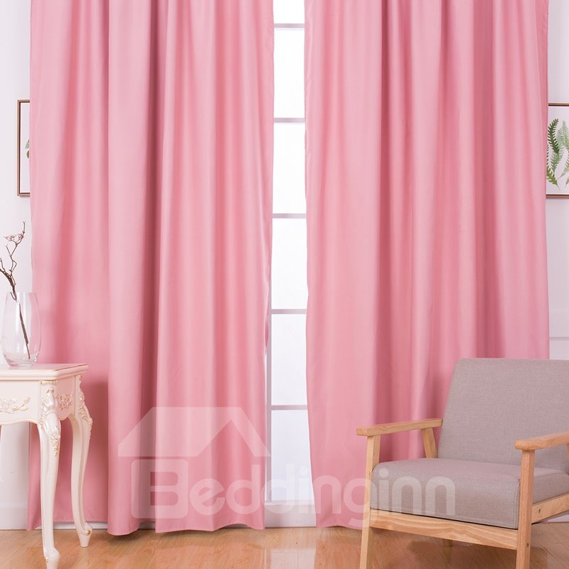 Blackout and Decoration Polyester Luxury Solid Colors Room Curtains