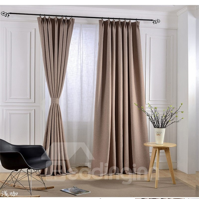 Blackout and Decoration Linen Concise and Luxury Room Curtains