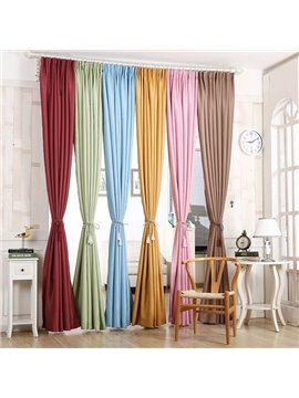 Decoration and Dust-Proof Polyester Plain Weave Concise Style Room Curtains