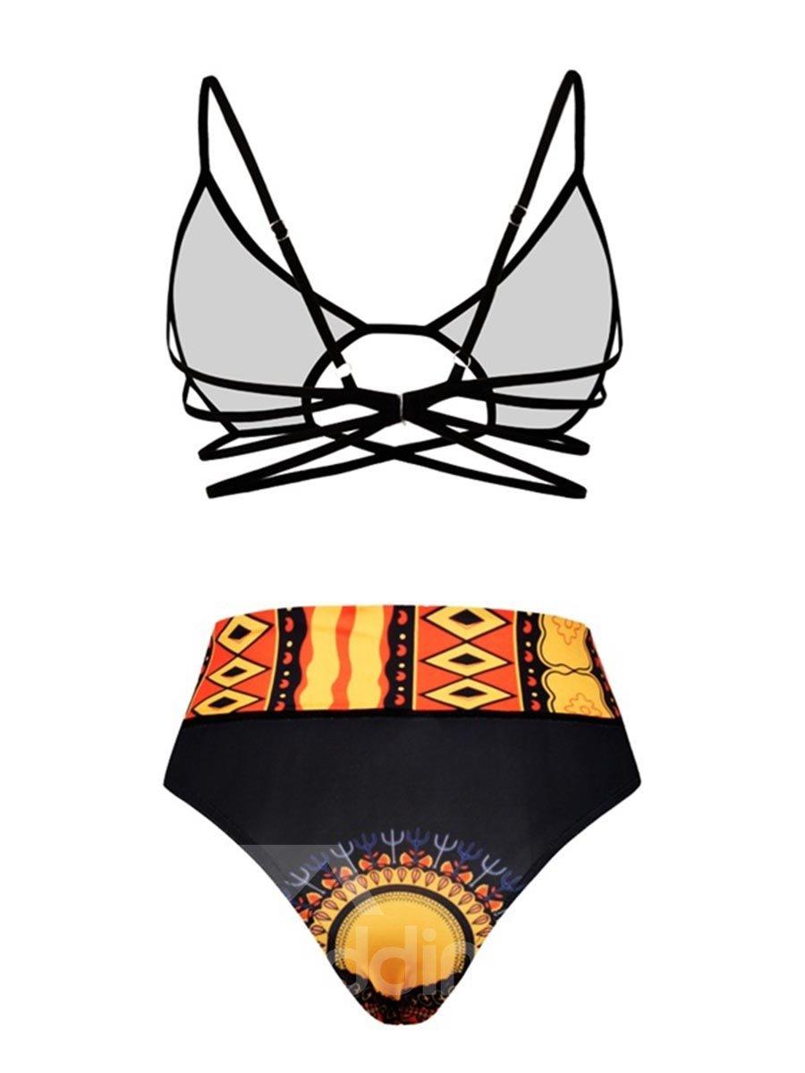 Bikini High Waist Sexy for Women 3D Bathing Suit Swimwuits