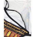 Long Sleeve High Waist Bikini Folk-Custom 3D Bathing Suit Swimwuits