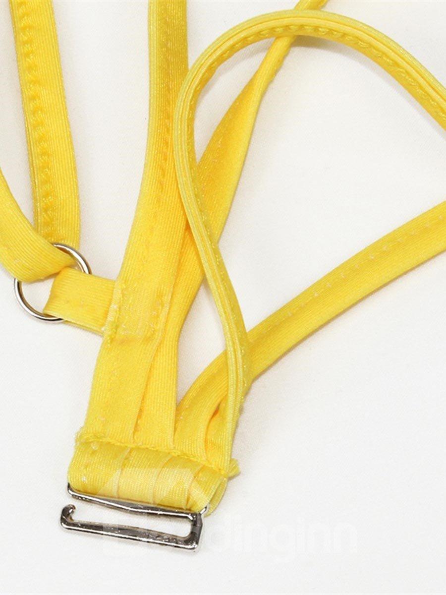 Push up Sexy Indian Bikini Yellow Cool 3D Bathing Suit Swimwuits