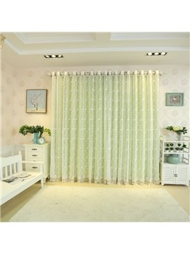 Blackout and Decoration Polyester Modern and Korean Style Sheer and Lining Curtain Sets