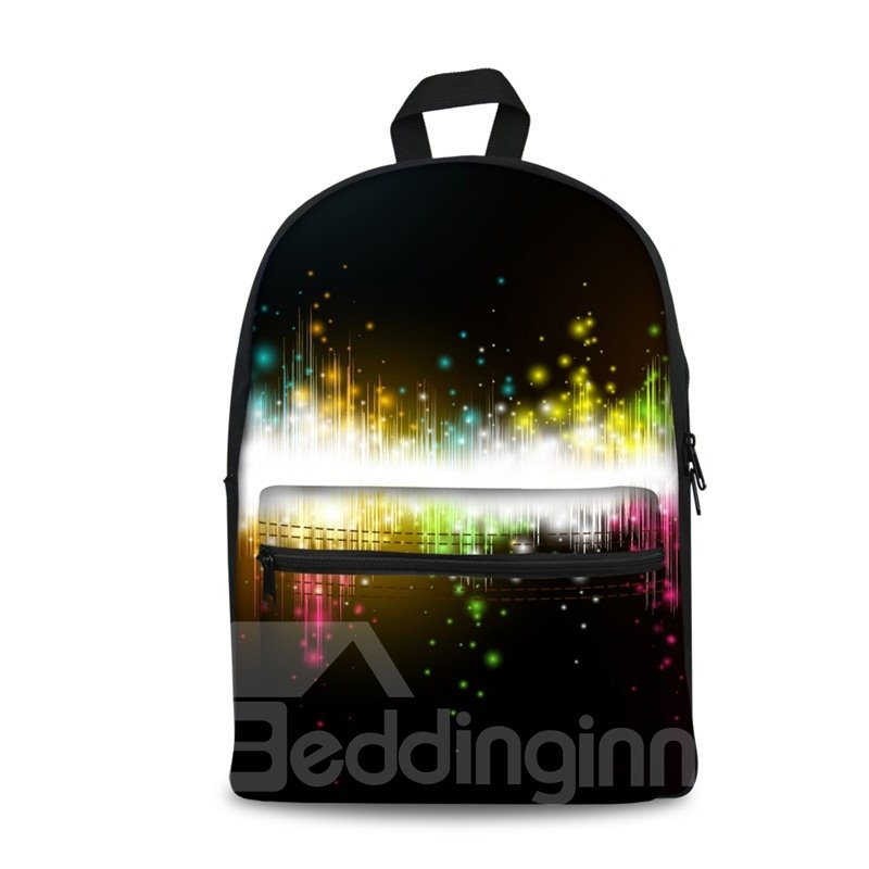 3D Colorful Music Melody Washable Lightweight School Outdoor Backpack