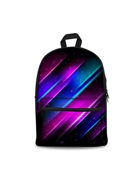 3D Pattern Colorful Line Washable Lightweight School Outdoor Backpack