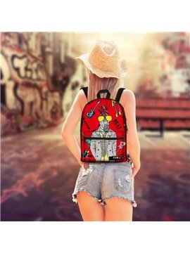 3D Pattern Rock Pop Horse School Outdoor for Man&Woman Backpack