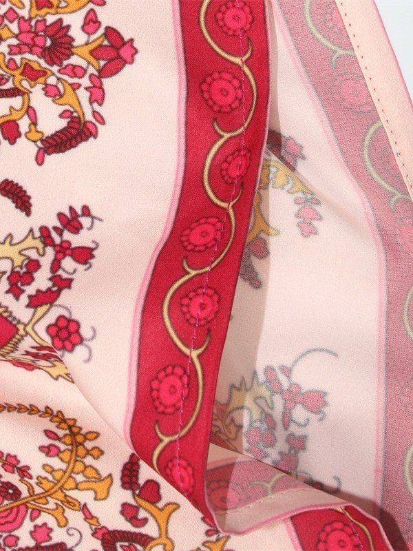 Bohemia Folk-Custom Style Red 3D Print Pattern Sexy Princess Summer Cool Beach Dress