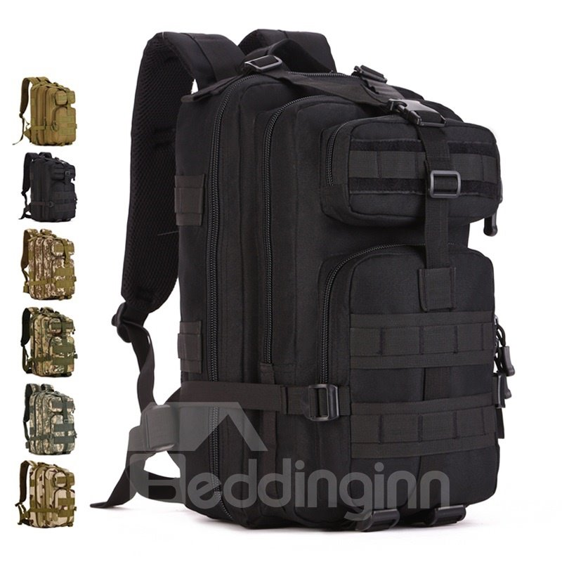 30L Waterproof Breathable Nylon Camping Outdoor Schoolbag Backpack