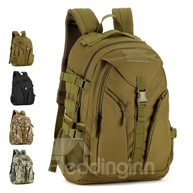 40L Waterproof Military Camo Cool Camping School Black Backpack