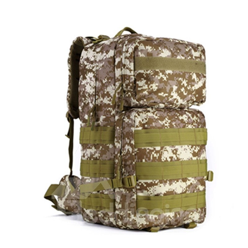 55L Waterproof High Capacity Tactical Lightweight Mesh Breathable MOLLE Camping Backpack