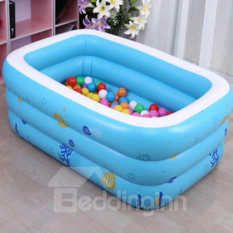 51*35*20in Portable Inflatable Rectangular PVC Blue Child SPA Bathtub