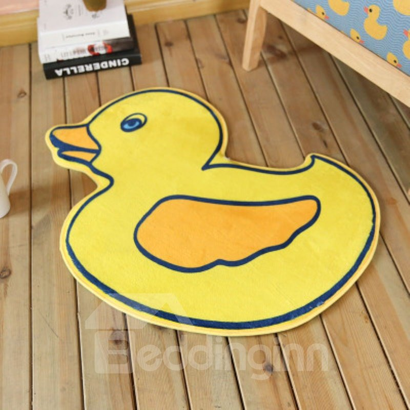 Yellow Duck Shape Polyester Baby Play Floor Mat/Crawling Pad