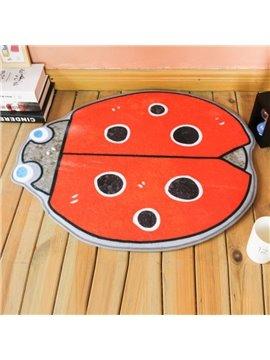 Orange Ladybirds Shape Polyester Baby Play Floor Mat/Crawling Pad