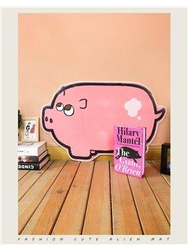 Pink Pig Shape Polyester Baby Play Floor Mat/Crawling Pad