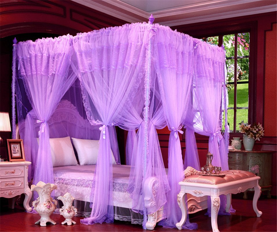 Princess Style Double Encryption Thickening Square Polyester Mosquito Bed Nets