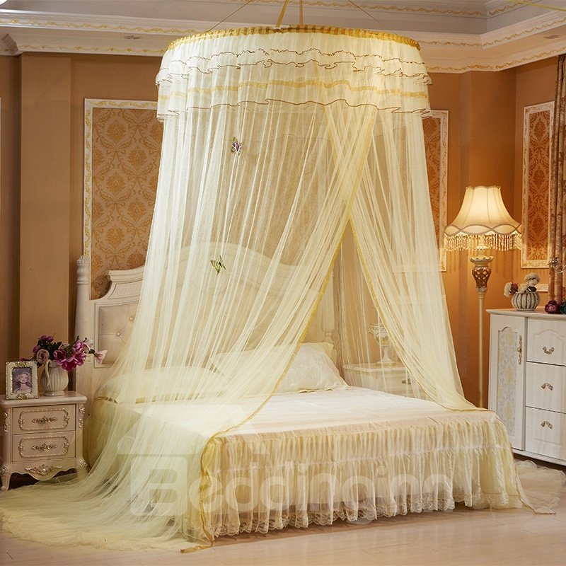 Princess Style Round Lace Dome Polyester Hanging Bed Nets