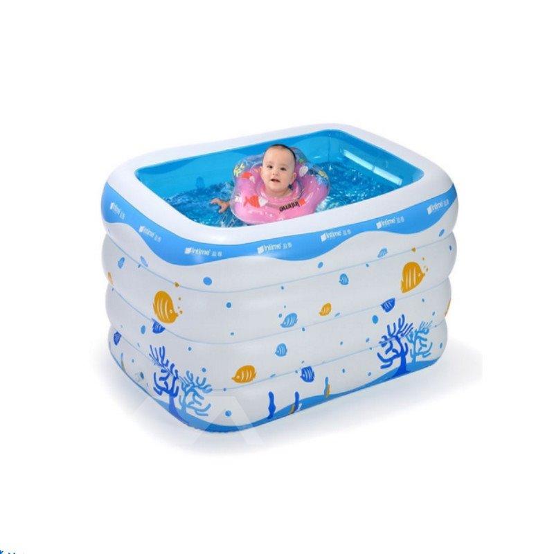 39*26*11in Portable Inflatable Rectangular PVC White SPA Bathtub