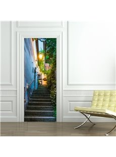 30×79in Stone Stair Path Pattern PVC Environmental and Waterproof 3D Door Mural