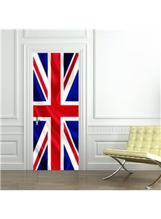 30×79in British Flag Pattern PVC Environmental and Waterproof 3D Door Mural