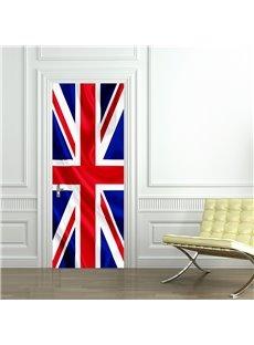 30×79in British Flag Pattern PVC Environmental and Waterproof 3D Door Mural