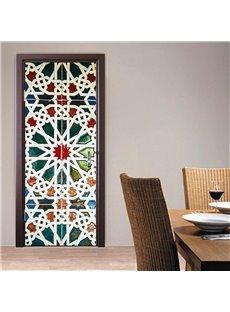 30×79in Bohemian Style PVC Environmental and Waterproof 3D Door Mural