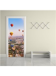 30×79in Parachutes and Topography PVC Environmental and Waterproof 3D Door Mural