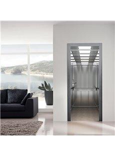 30×79in Half Transparent Simple Style PVC Environmental and Waterproof 3D Door Mural
