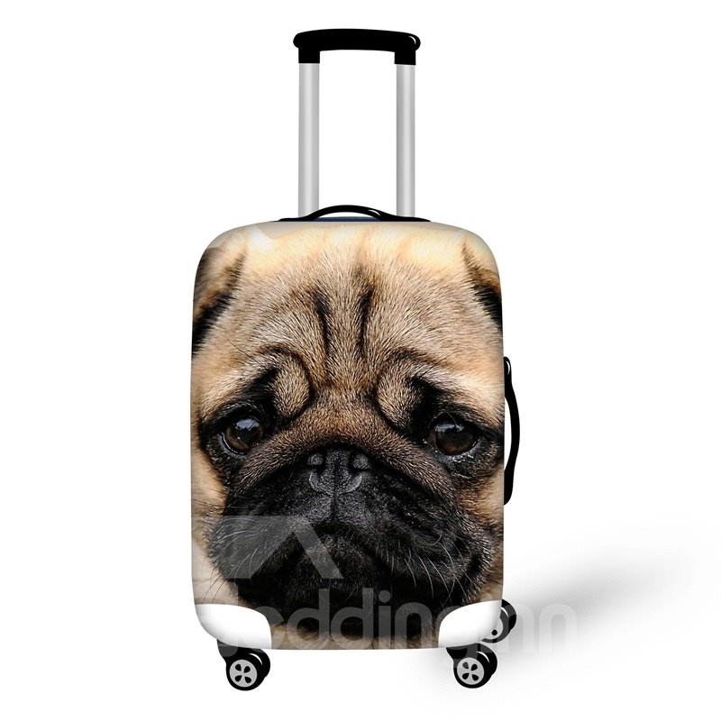 3D Pattern SharPei Animals Dog Water-Resistant Travel Luggage Cover