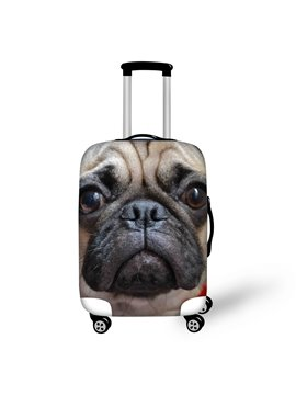 3D Animals Pattern SharPei Adorable Waterproof Anti-Scratch Travel Luggage Cover