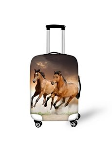 3D Animals Horse Running Pattern Waterproof Anti-Scratch Travel Luggage Cover