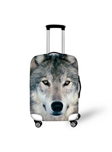 3D Animals Cold Winter Wolf Face Pattern Waterproof Anti-Scratch Travel Luggage Cover