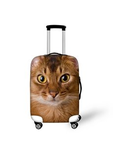 Anti-Scratch Travel 3D Animals Pattern Cute Cat Luggage Cover Suitcase