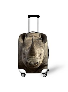 Anti-Scratch 3D Waterproof Animals Dicerorhinus Travel Luggage Cover Suitcase