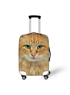 3D Orange Cat Pattern Waterproof Luggage Cover Protector 19 20 21