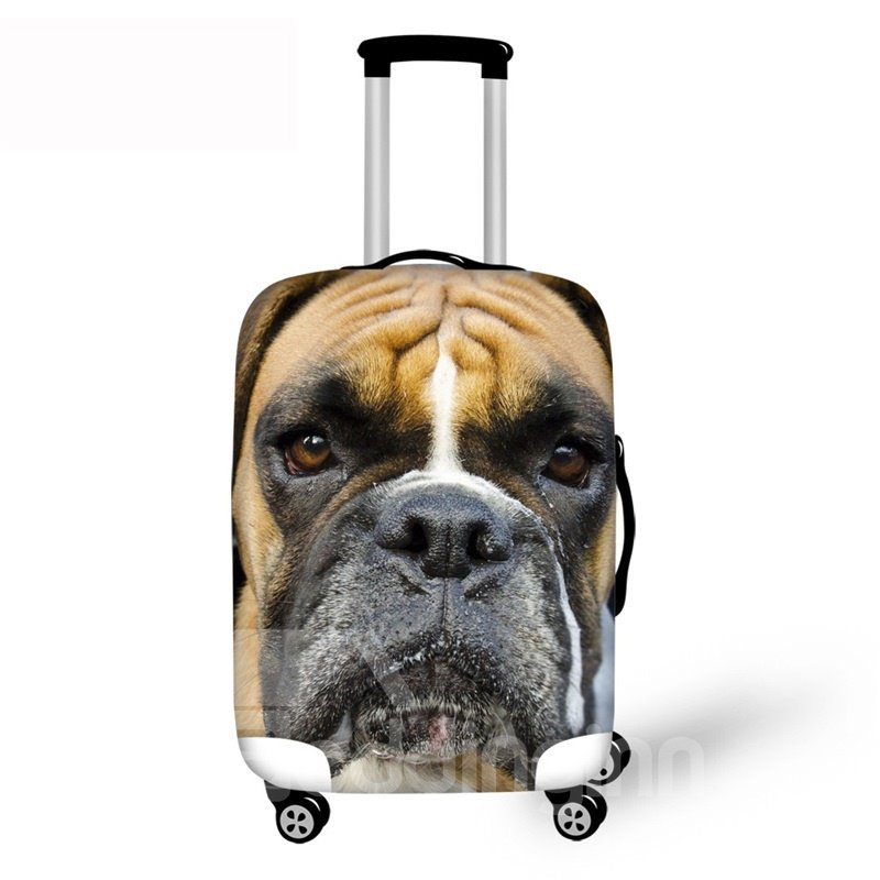 3D Dog AnimalsPattern Waterproof Luggage Cover Protector 19 20 21