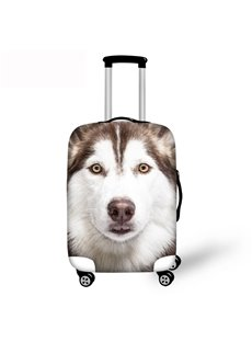 3D Cute Husky Pattern Waterproof Luggage Cover Protector 19 20 21