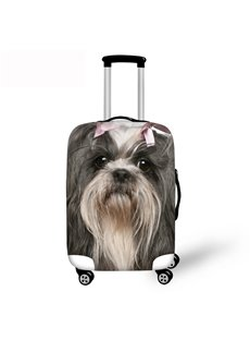 3D Puppy Dog Pattern Waterproof Suitcase Protector 19 20 21