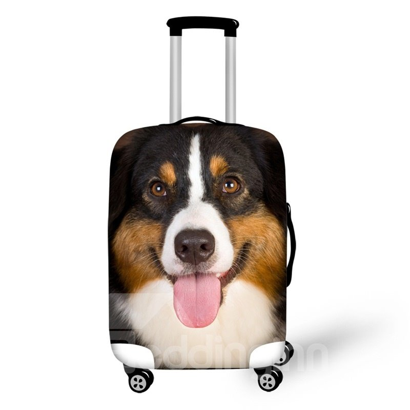 3D Pattern Happy Dog Waterproof Suitcase Protector 19 20 21