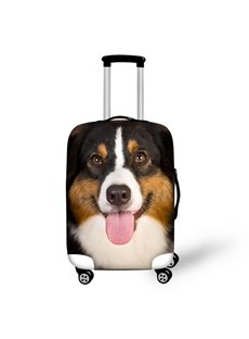 3D Pattern Happy Dog Waterproof Suitcase Protector 19 20 21