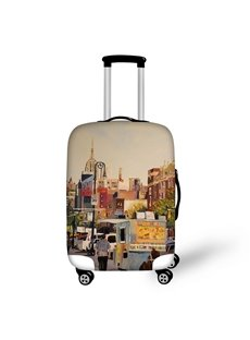 3D Pattern Street View Waterproof Suitcase Protector 19 20 21