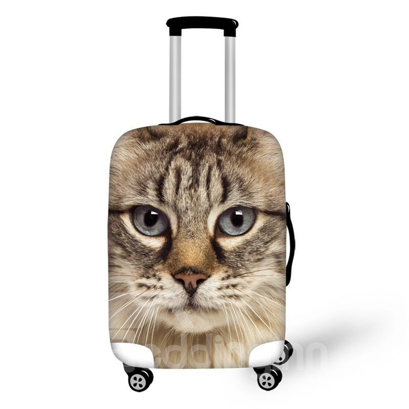 3D Kitty Face Pattern Waterproof Suitcase Protector 19 20 21