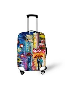Couple Rainy WalkingTravel Luggage Cover Suitcase Protector 19 20 21