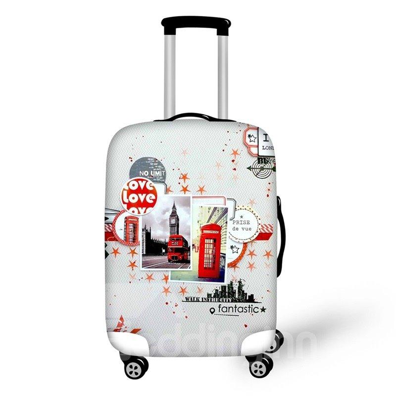 3D London Travel Pattern Waterproof Suitcase Protector 19 20 21