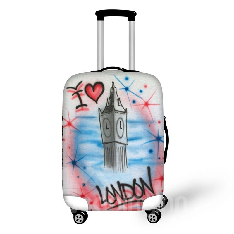 3D Big Ben Painting Pattern Waterproof Luggage Cover Protector 19 20 21